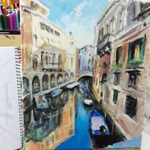 cuadros de venecia por mercedes coloma artista