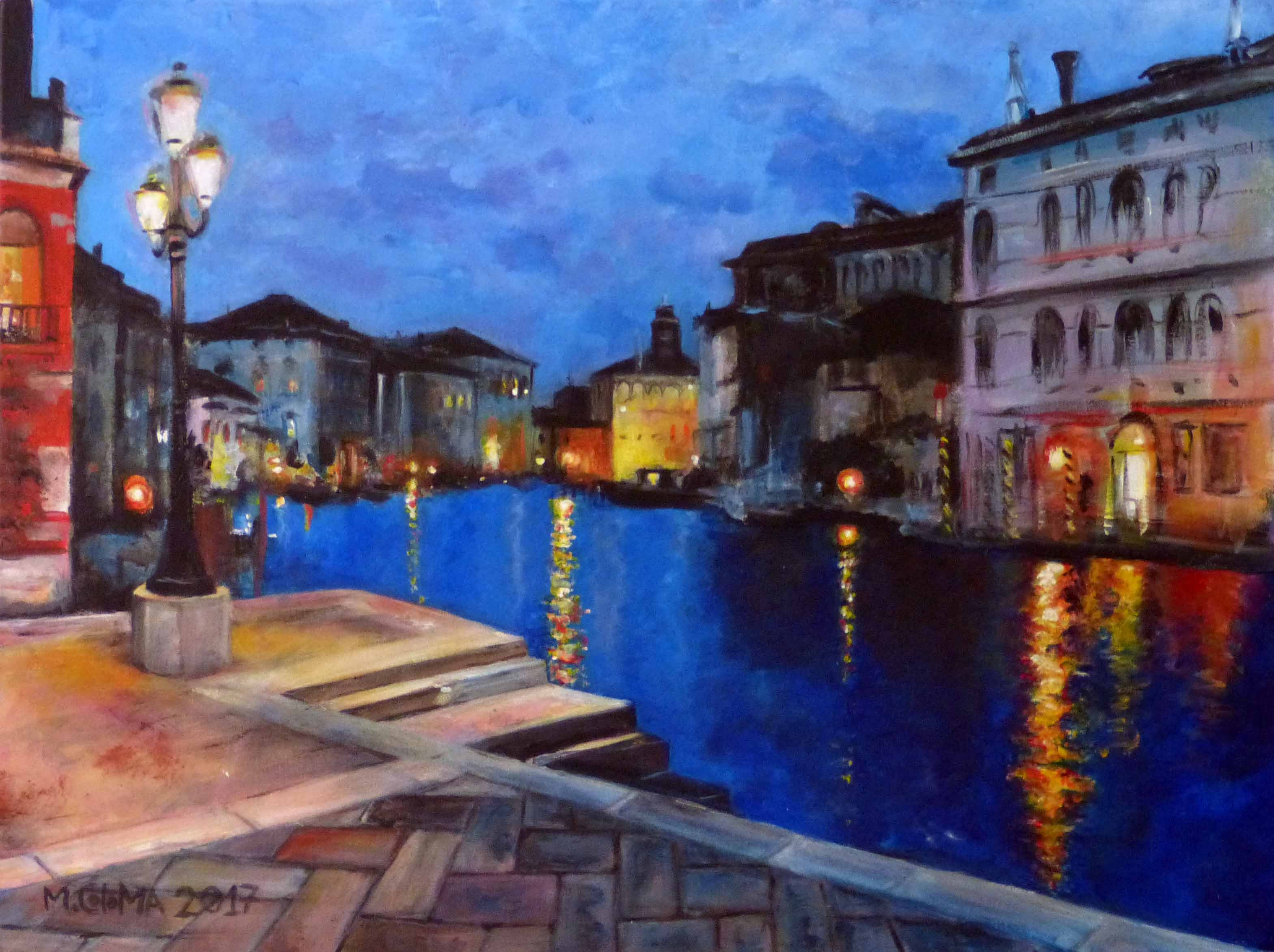 Aprendiendo a pintar, siempre. venezia, salida de la Accademia