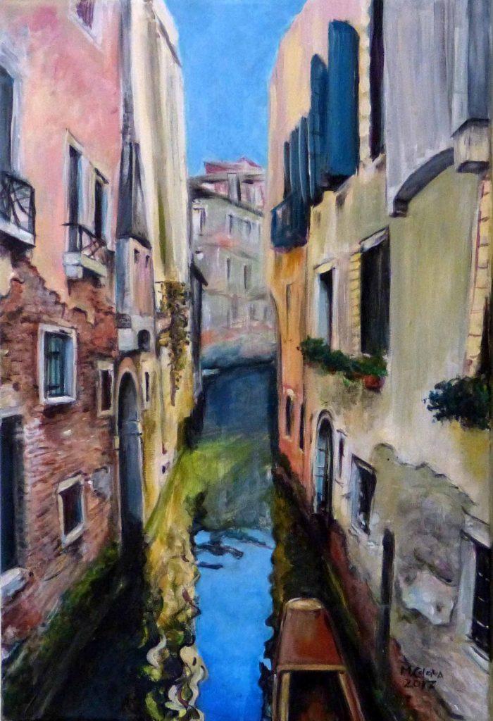 cuadro de paisaje de venezia