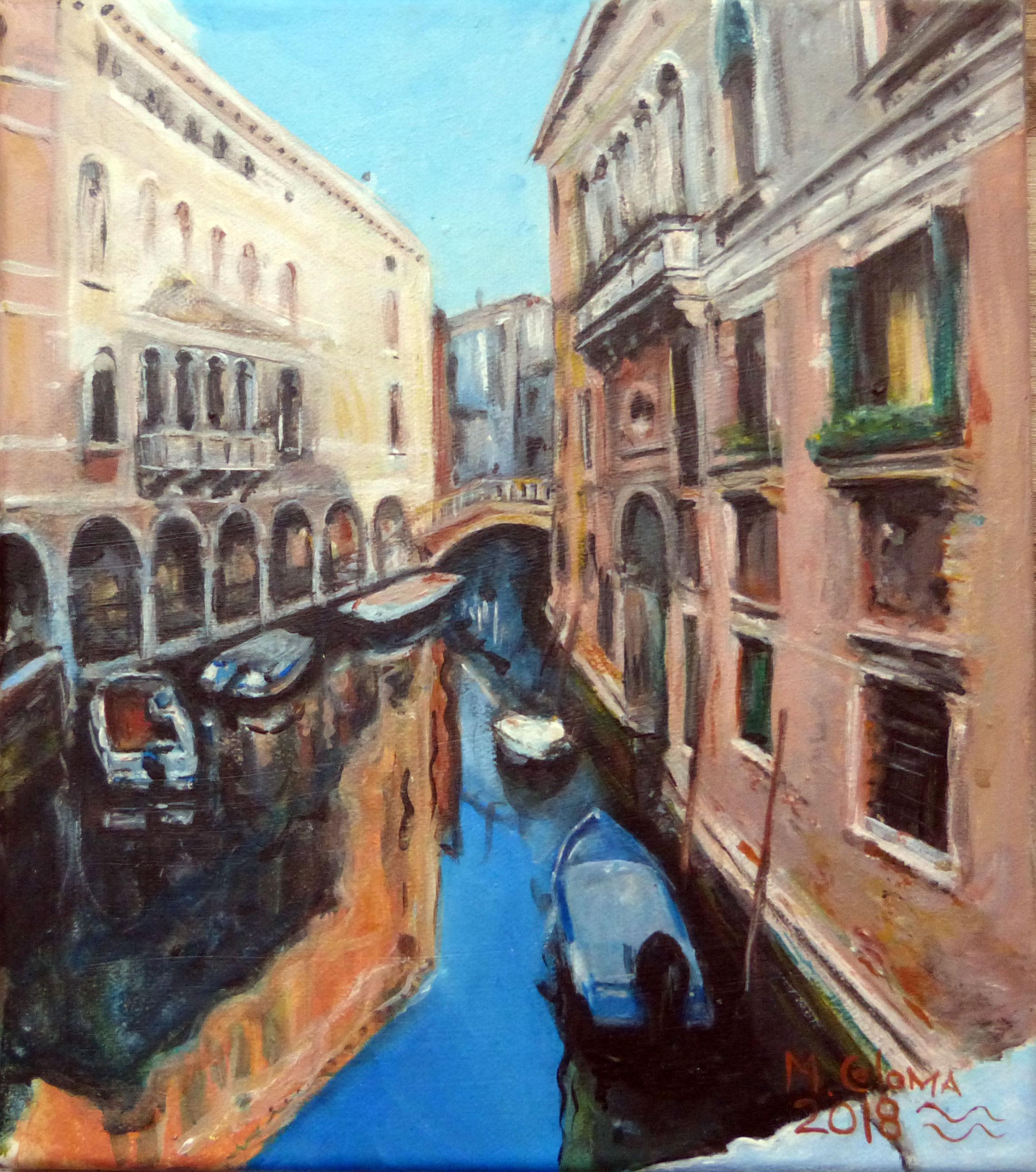 cuadro de paisaje veneciano