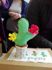 taller de cactus de tela