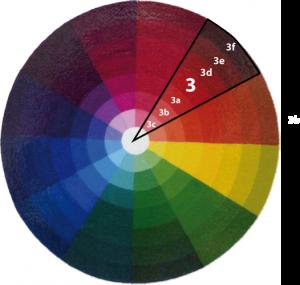el círculo cromático, matices