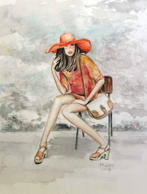 ilustracion de moda, clases de dibujo y pintura en zaragoza